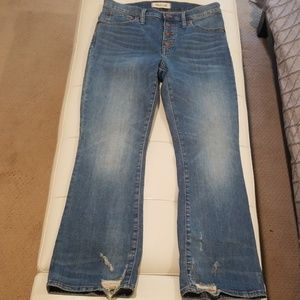Madewell button fly jean